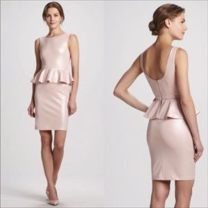 Alice + Olivia Tracey Sleeveless Pink Peplum Dress